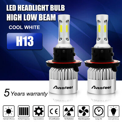 2X H13 9008 388W 38800LM Lumileds LED Headlight Bulbs Kit HiLo Beam 6500K White