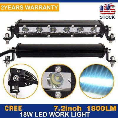 7inch 18W Spot LED Work Light Car Truck Boat Driving Fog Offroad SUV 4WD Bar 36W