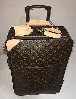Genuine Louis Vuitton Pegase 55 Rolling Suitcase Luggage Travel Carry on Bag
