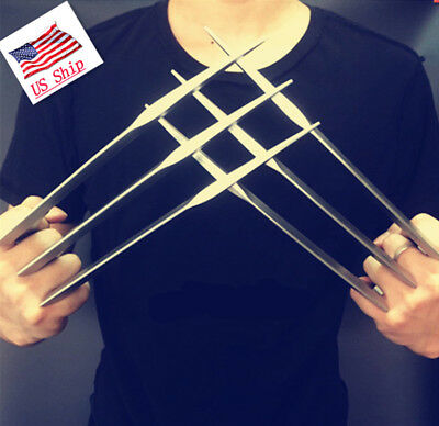 2 pcs1 pair X-men Wolverine Claws Logan Paws cosplay props ABS Plastic US SHIP