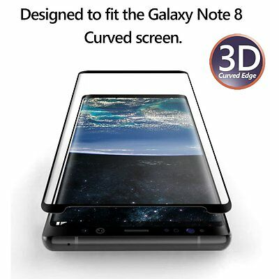 Poetic Anti-Fingerprint Tempered Glass Screen Protector for Galaxy Note 8 Black