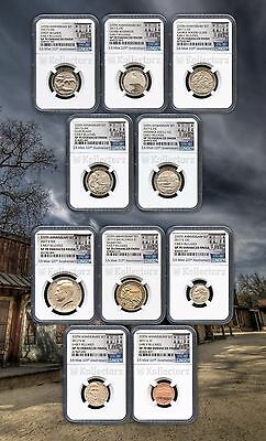 2017 S 225TH ENHANCED UNCIRCULATED U-S-10COIN SET NGC SP70 EARLY RELEASES
