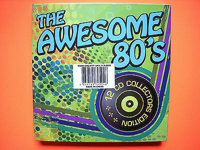 ⭐️ NEW Sealed THE AWESOME 80s 12 CD Collectors Edition Box Set Hits Various ⭐️