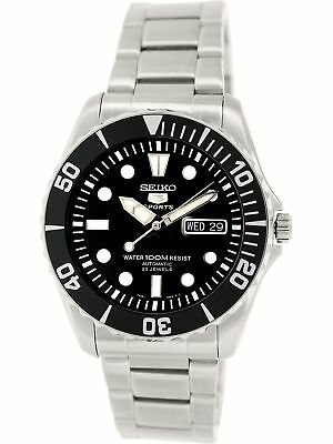 Seiko Mens 5 Automatic SNZF17K Silver Stainless-Steel Plated Fashion Watch