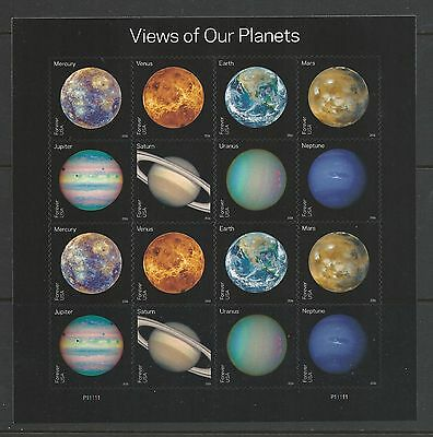 2016 5069-5076 View of Our Planets Pane of 16 MNH