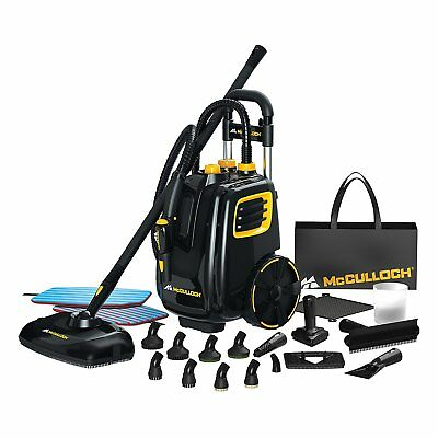 McCulloch 1500W Multipurpose Deluxe Canister Steam Cleaner w 23 Accessories