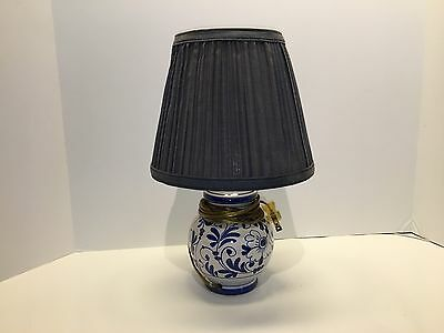 Small Ceramic Lamp in Blue and White