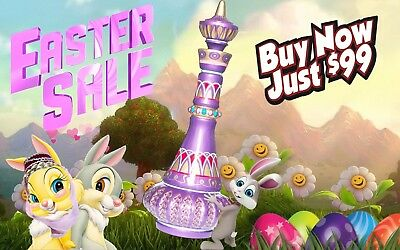 I DREAM OF JEANNIE GENIE BOTTLE SHIMMERING PURPLE EASTER SALE Only 99