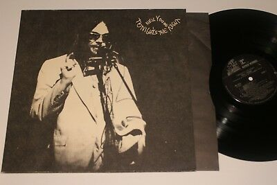 NEIL YOUNG TONIGHTS THE NIGHT LP  FIRST PRESS NEAR MINT COVER - VINYL W INSERT