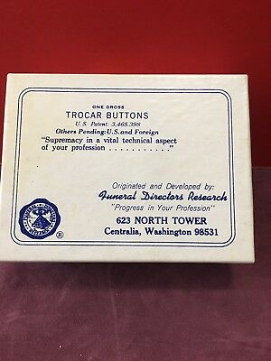 EMBALMING TROCAR BUTTONS FULL BOX OF 144