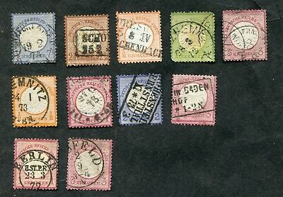 STAMP LOT OF GERMANY LARGE SHIELDS WITH BETTER 160-