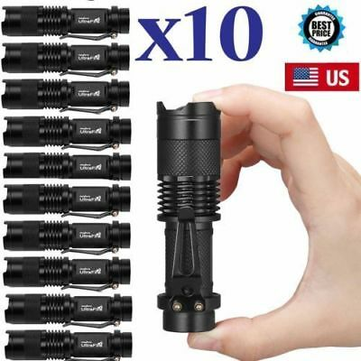 10 x Military Tactical T6 10000LM LED Flashlight Police Torch Lamp USA