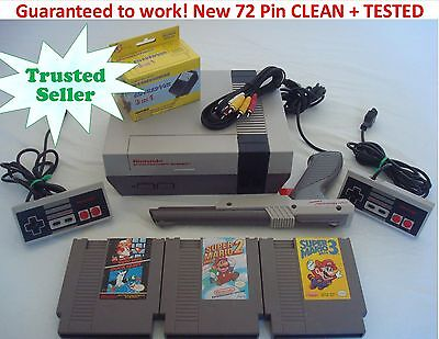 NINTENDO NES Console REFURBISHED System Bundle Games Super Mario 1 2 3 TRILOGY