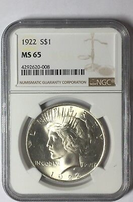 1922 Peace Silver Dollar - MS65 NGC