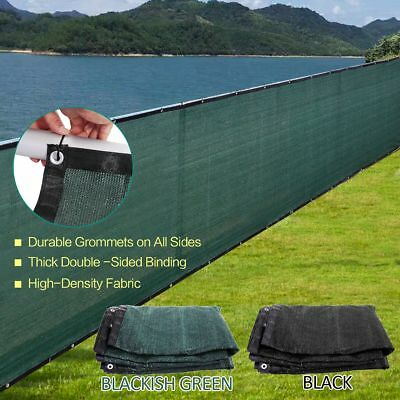 4 5 6 8 Tall BlackGreen Fence Windscreen Privacy Screen Cover Fabric Mesh