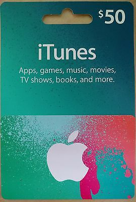 iTunes 50 Gift Card Free Shipping