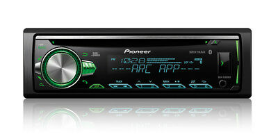 Pioneer 1-DIN Car Stereo CD Player Receiver w Bluetooth USB AUX