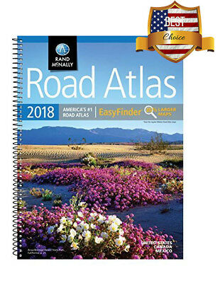 Rand Mcnally USA Road Atlas 2018 BEST Large Scale Travel Maps United States NEW