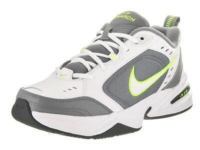 Nike AIR MONARCH IV Mens White Grey Volt 100 Lace Up Running Training Shoes