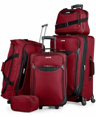 200 NEW TAG Travel-Collection Springfield III 5 Piece Suitcase Luggage Set Red