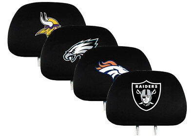 NFL Headrest Cover Embroidered Logo Set of 2 by Team ProMark -Select- Team Below
