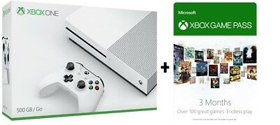 Microsoft Xbox One S 500GB Console - 3 Month Game Pass