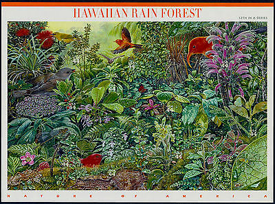 2010 HAWAIIAN RAIN FOREST 12th Nature of America Mint Sheet 10 44¢ Stamps 4474