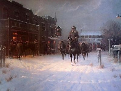 G- Harvey Winters Eve print  signed - numbered  image size 22 x 14-5