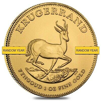 Sale Price - 1 oz South African Krugerrand Gold Coin Random Year