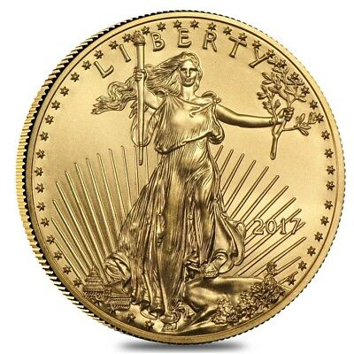 2017 1 oz Gold American Eagle 50 Coin BU