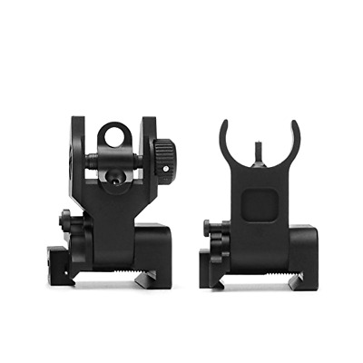 NEW Ar Tactical Flip Up Iron Sights Set 2 Steel Front - Rear Sight 15 Picatinny