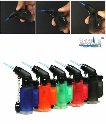45 Degree Angle Eagle Jet Flame Butane Torch Lighter Refillable Windproof 1 5 10