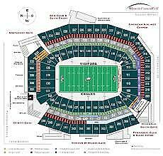 Philadelphia Eagles Vs Chicago Bears Tickets Nov 26th  1 PM Aisle Seats