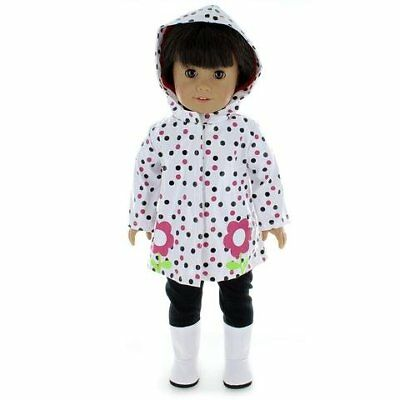 Doll Clothes Rain Coat Outfit Fits American Girl - Other 18 Inch Dolls