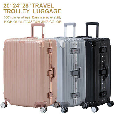 16202428 Luggage Travel Set with 4 Wheels Bag Trolley Case Carry On Suitcase