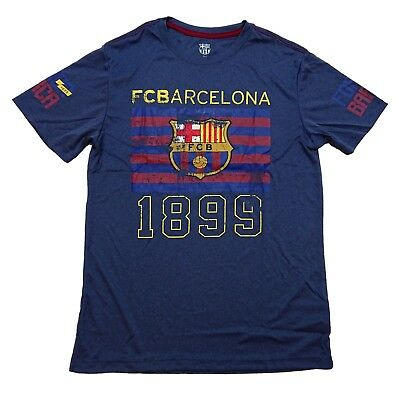 Fc Barcelona Fan T-Shirt Official Licensed Navy Blue Messi 10