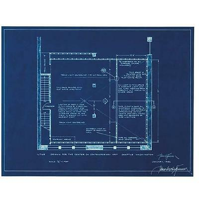 James Turrell Original Hand-Signed and Limited-Edition Cyanotype 1982