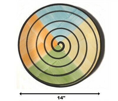 BEST PRICE LRG 14 CALECA - CABANA SPIRAL SERVING PLATTER HAND PAINTED ITALY