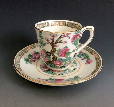 Colclough Genuine Bone China Indian Tree Demitasse Cup - Saucer Made In England