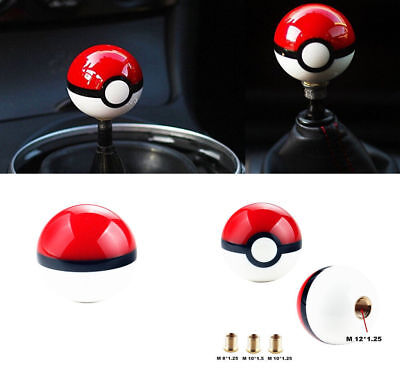 Car 55MM Pokemon Pokeball pikachu Poke ball Manual Gear shift shifter knob