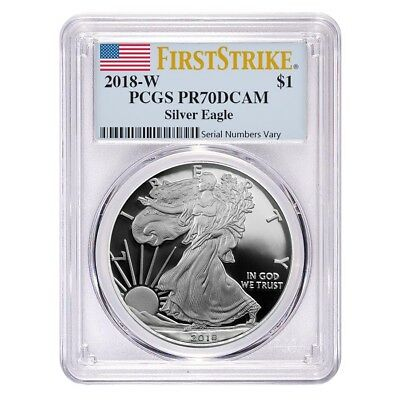 2018-W 1 oz Proof Silver American Eagle PCGS PF 70 DCAM First Strike