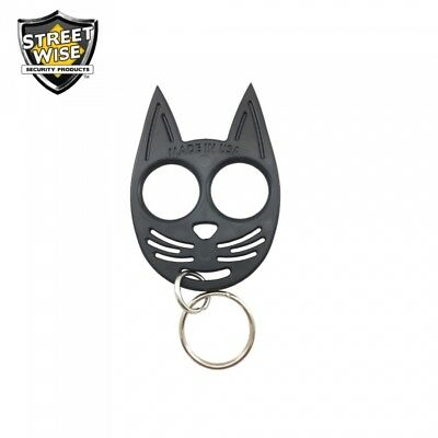 Stop Sexual Assault My Kitty Self Defense Key Chain Black Repels Attackers