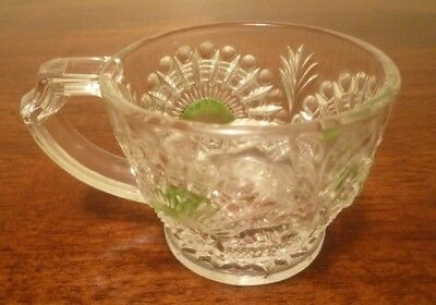 EAPG US Glass Green Rising Sun Punch Cup