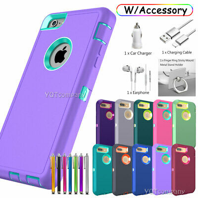 Case For iPhone 6 7 8 Plus 11 12 Pro Max XR X XS Max SE2 Heavy Duty Rugged Cover