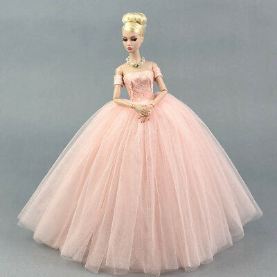 Pink Wedding Dress for 11-5inch Doll Princess Long Dresses Doll Clothes 16 Toy