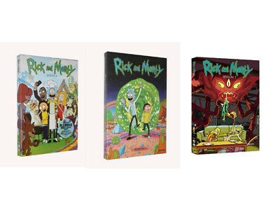 Rick and Morty The Complete Series Season 1- 3 1 2 3 6-DISC DVD SET NEW Bundle