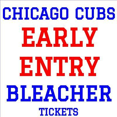 CHICAGO CUBS · EARLY ENTRY BLEACHER TICKETS · MAY 8 vs MIAMI MARLINS