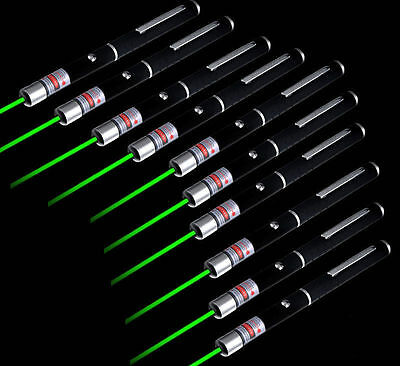 10pcs 1mw 532nm Lazer Visible Beam Light High Quality Green Laser Pointer Pen