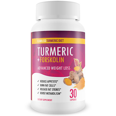 Flawless Turmeric Diet - Turmeric - Forskolin Advanced Weight Loss Formula