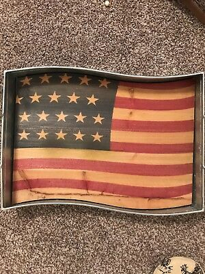 Fourth Of July Metal Tray